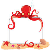 Octopus holding a sign