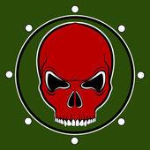 Vector red skull drum