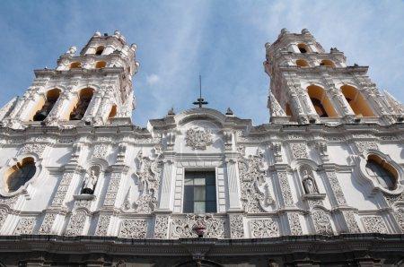 Foto de Jesuit church of La Compañia, Puebla (Mexico) - Imagen libre de derechos