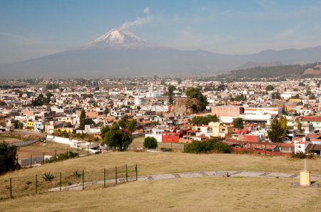 Foto de Volcán Popocatépetl visto desde México de cholula - Imagen libre de derechos