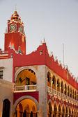 City Hall of Merica at night, Yucatan Mexico