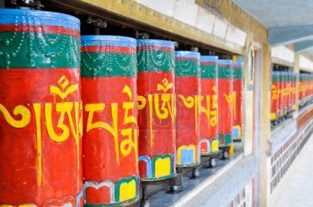 Photo for Tibetan prayer wheels, Dharamsala (India) - Royalty Free Image