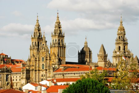 Photo pour Cathédrale de Santiago de Compostela (Espagne) - image libre de droit