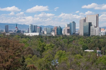 Photo for Mexico City skyline from Chapultepec castle - Royalty Free Image