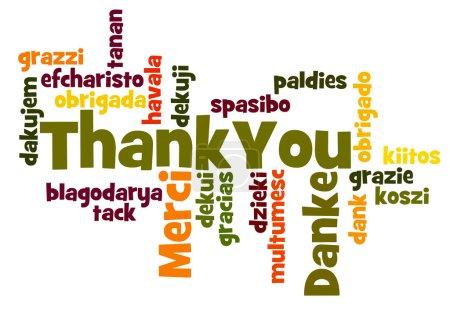 Photo pour Merci nuage de mot dans différentes langues - image libre de droit