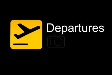 signe de départ de l'aéroport