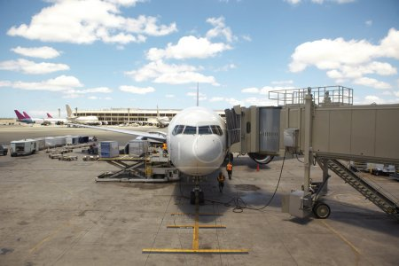 Airline Jet parked in Terminal