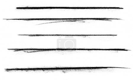 Foto de Un conjunto de líneas de carbón sobre un fondo blanco . - Imagen libre de derechos