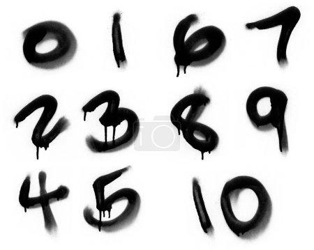 Graffiti Spray Painted Numerics
