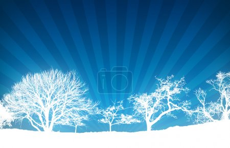 Blue Light Ray Nature Background