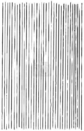 Foto de Líneas dibujadas a mano con una pluma de punta de cepillo sobre blanco . - Imagen libre de derechos