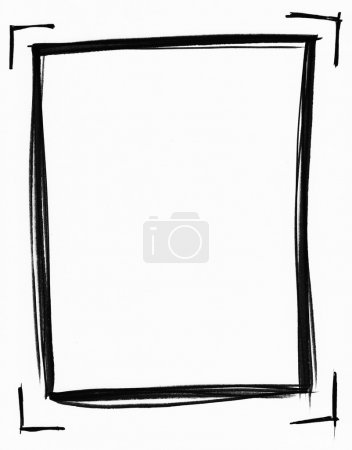 Photo for A hand drawn picture frame done in black marker. - Royalty Free Image