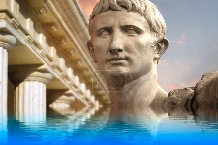 Statue of Julius Caesar Augustus in Rome, Italy Ancient Art ref
