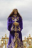 Spanish easter celebration procession of the christ of medinacel