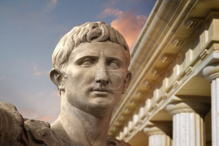Photo for Statue of Julius Caesar Augustus in Rome, Italy Ancient Art - Royalty Free Image