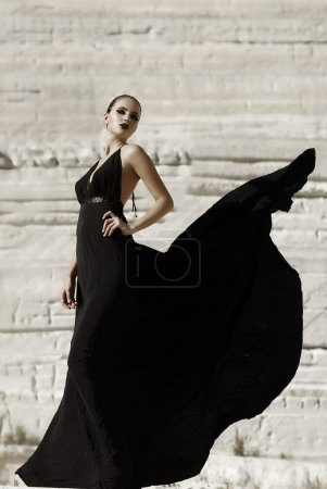 Beautiful gothic girl