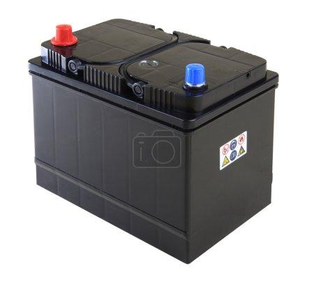 Photo pour Batterie voiture noire générique isolée sur blanc - image libre de droit