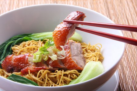 Photo for Chinese Peking Duck noodle soup - Royalty Free Image