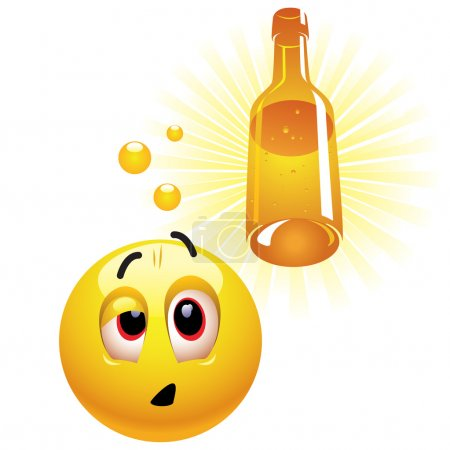 Illustration for Drunk smiling ball - Royalty Free Image