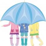Постер, плакат: Strands under the umbrella