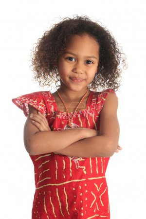 Photo for Afro american beautiful girl with black curly hair isolated women metisse - Royalty Free Image