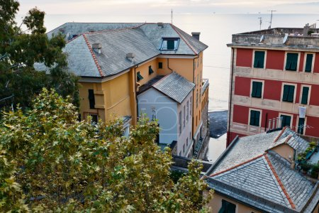 Evening in the Village of Camogli near Genoa, Italy