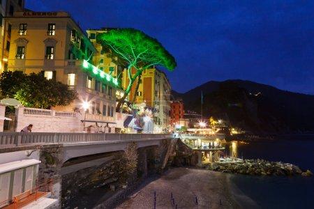 Town of Camogli Illuminated in the Night, Italy