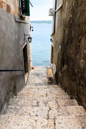 Photo for Narrow Stairway to Sea in Rovinj, Croatia - Royalty Free Image