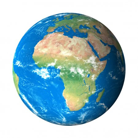 Earth Model from Space: Africa View