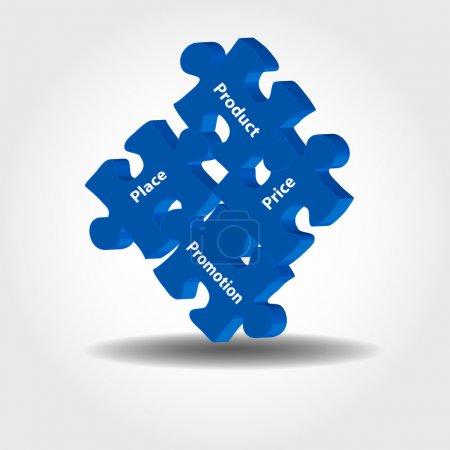 Marketing puzzle pieces