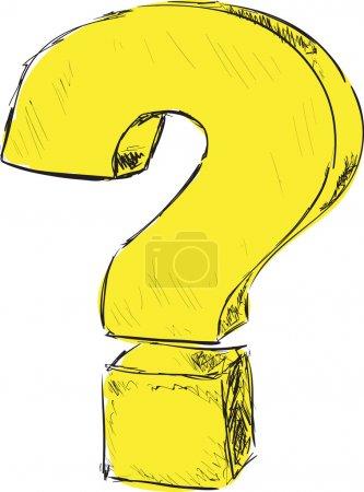 Question mark sketch vector illustration