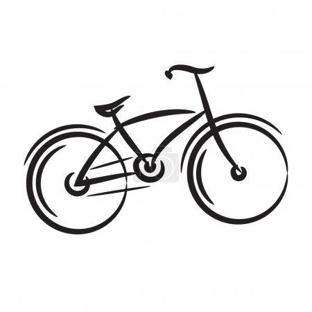 Bike. freehand drawing