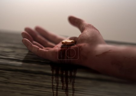 Photo for Jesus Nail-pierced Hand in focus - Royalty Free Image