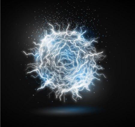 Illustration pour Boule d'énergie de la foudre (Boule de feu). Eps 10 - image libre de droit