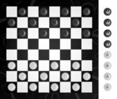 Board and checkers to play