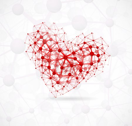 Illustration for Image of the heart, consisting of molecular structure. Eps 10 - Royalty Free Image