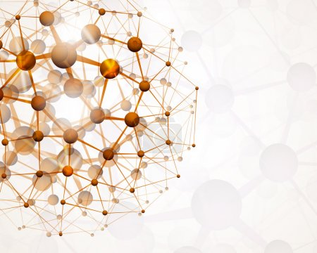 Illustration for Abstract background of the molecular structure. Eps 10 - Royalty Free Image