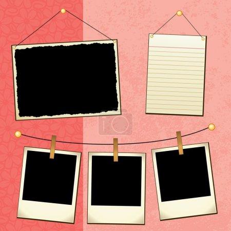 Illustration pour Modèle Scrapbook - image libre de droit