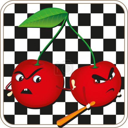Angry cherry icon