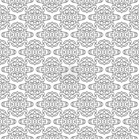 Illustration for Vector lace black and white pattern. Seamless background - Royalty Free Image