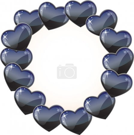 Illustration for Vector background - special black hearts scope for your text - Royalty Free Image