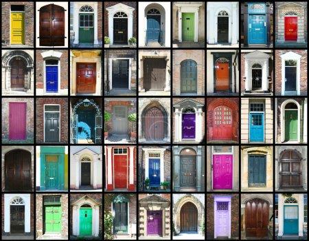 Photo pour Collection de différentes portes insolites - image libre de droit