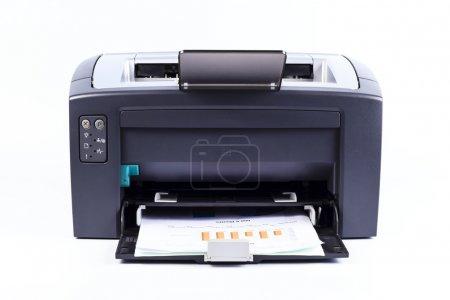 Photo pour Imprimante isolé sur fond blanc - image libre de droit