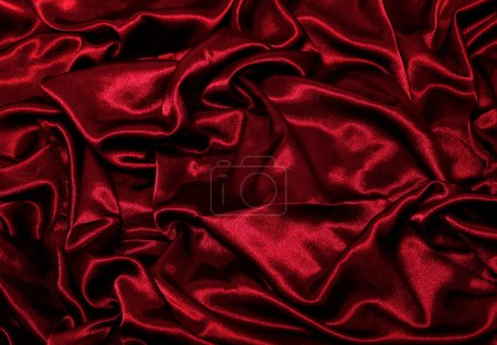 Photo pour Satin rouge - image libre de droit