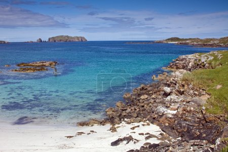Coastline and beach at Bosta in the Isle of Lewis, Western Isles, Scotland