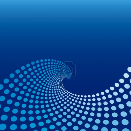 Illustration for Blue Wave Circle Background - Royalty Free Image