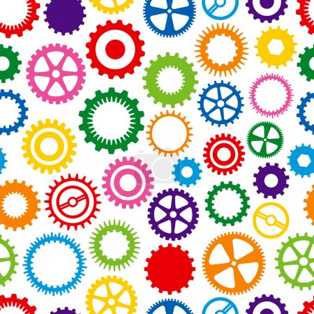 Colorful Cog Background