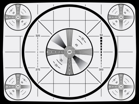 Illustration for Cool Retro Television Test Pattern - Royalty Free Image