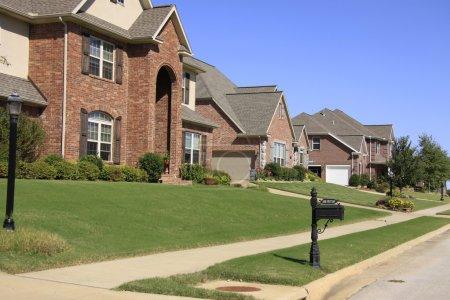 Upperclass Neighborhood of Expensive Homes