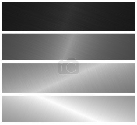 Photo for Metal brushed banners - Royalty Free Image